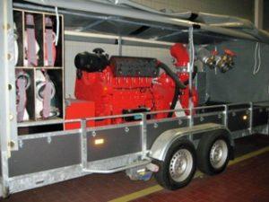 1x Diesel-Pumpenanhänger 4.160 l/min, 5 bar (Bj.2005)